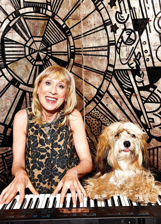 Elisabeth and Dog at Piano. Photo: Bobby Doherty/New York Magazine