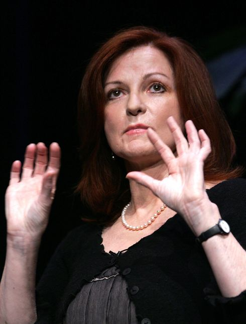 LONG BEACH, CA - SEPTEMBER 26: Maureen Dowd, speaks on stage at the 20th Annual California Governor And First Lady's Conference on September 26, 2006 at the Long Beach Conference Center in Long Beach, California.