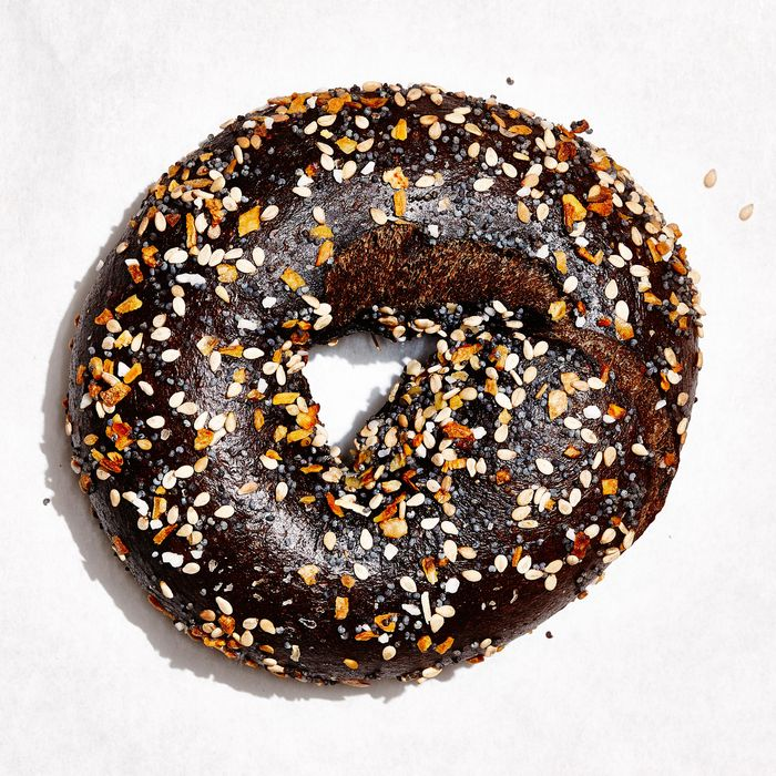 The pumpernickel-everything bagel.
