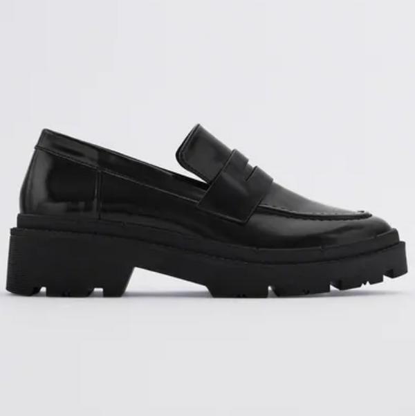 Zara Treaded Sole Loafers