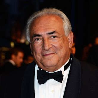 Dominique Strauss-Kahn attends the Tribute To Alain Delon during The 66th Annual Cannes Film Festival at the Palais des Festivals on May 25, 2013 in Cannes, France.