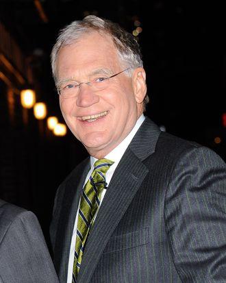 NEW YORK, NY - NOVEMBER 17: TV personality David Letterman enters the
