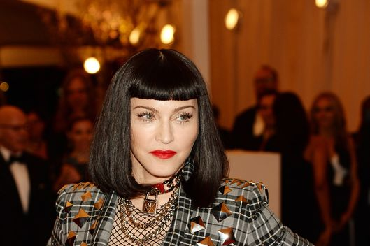 "NEW YORK, NY - MAY 06:  Madonna attends the Costume Institute Gala for the ""PUNK: Chaos to Couture"" exhibition at the Metropolitan Museum of Art on May 6, 2013 in New York City.  (Photo by Dimitrios Kambouris/Getty Images)"