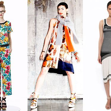 From left: new resort looks from Marc by Marc Jacobs, Chris Benz, and Ohne Titel.