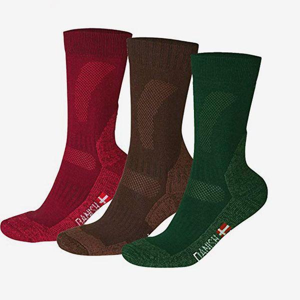 DANISH ENDURANCE, Merino Wool Hiking Socks (3 Pairs)