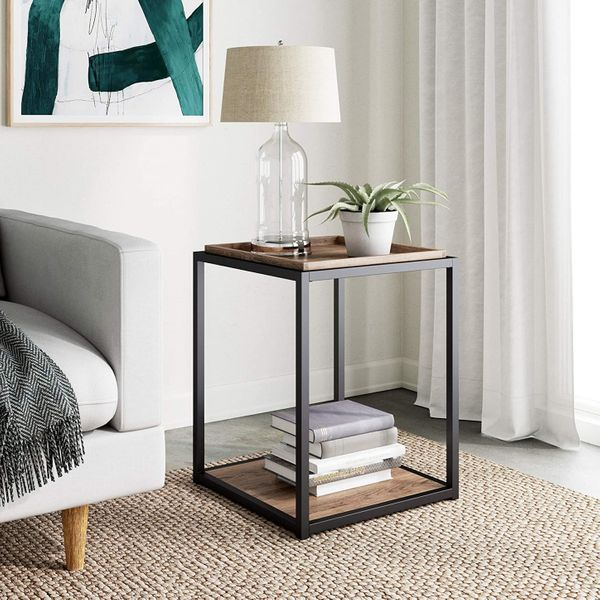 Nathan James Nash Modern Industrial Accent End or Side Table