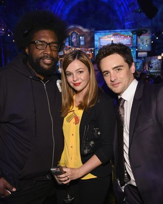 Questlove, Amber Tamblyn and Vincent Piazza attend HBO's