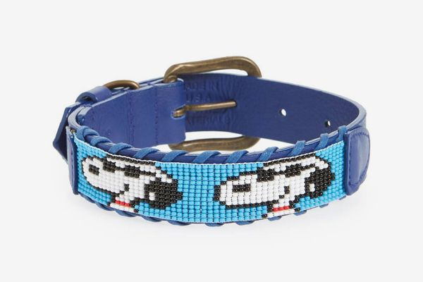 Camp Hero Peanuts — Joe Cool Beaded Dog Collar
