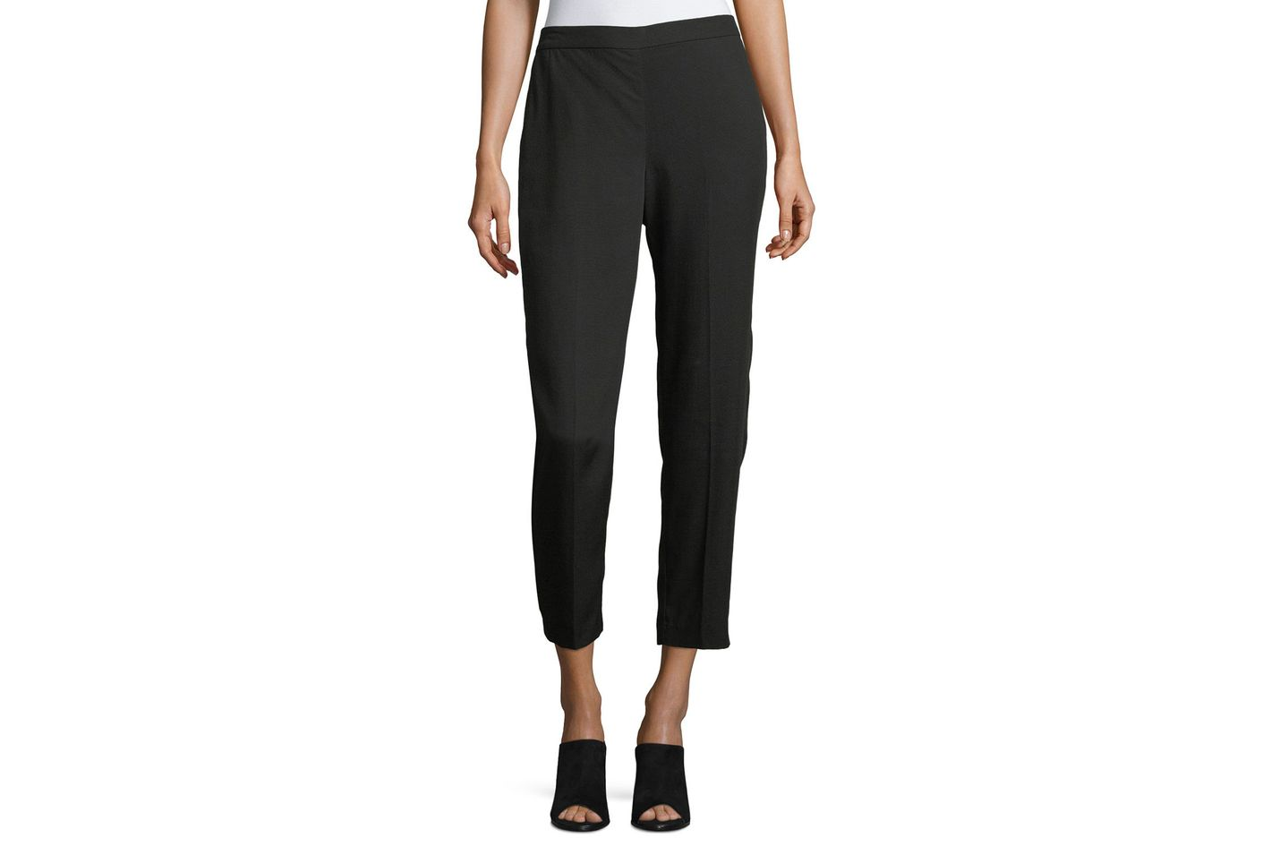 Eileen Fisher Woven Tencel Grain Ankle Pants