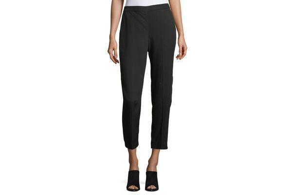 Eileen Fisher Woven Tencel Grain Ankle Pants