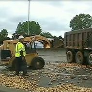 25-Ton Potato Spill Blocks Off North Carolina Highway for Hours