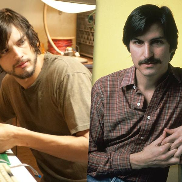 Left: Ashton Kutcher in
