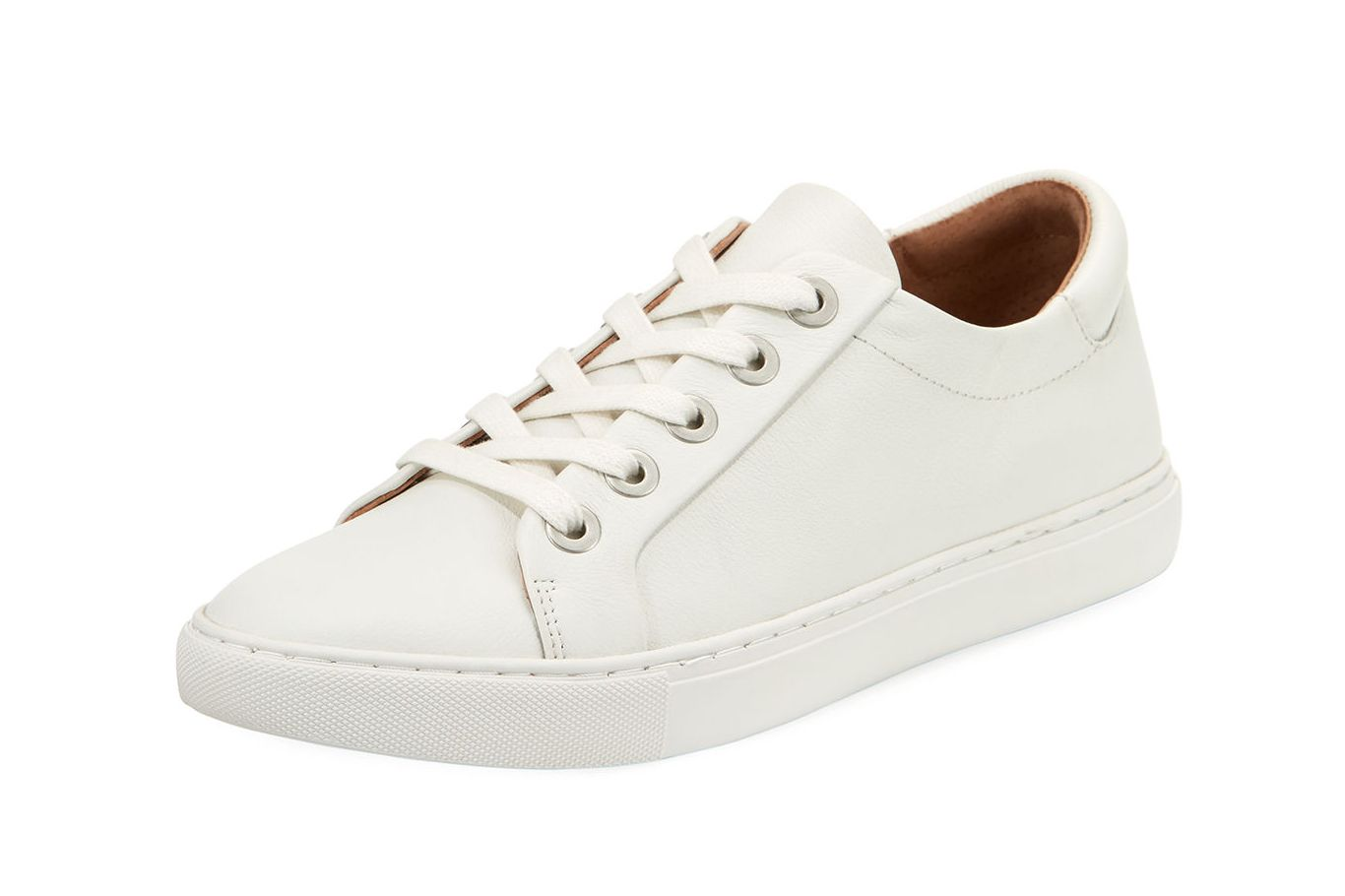 Gentle Souls Bobbie Lace-Up Pebbled Low-Top Sneaker