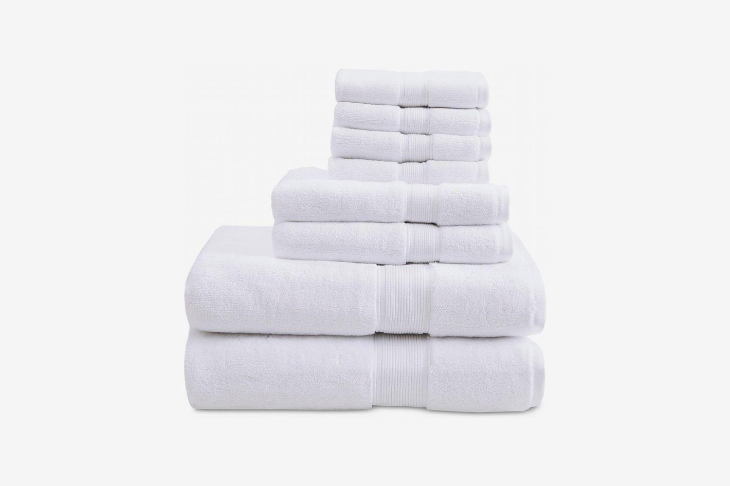 Madison Park Signature Solid 8-Piece Towel Set