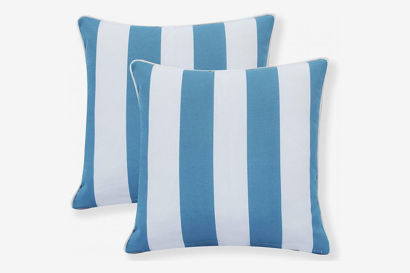 Decor Venue Water Resistant Indoor/Outdoor Square Stripe Throw Pillow