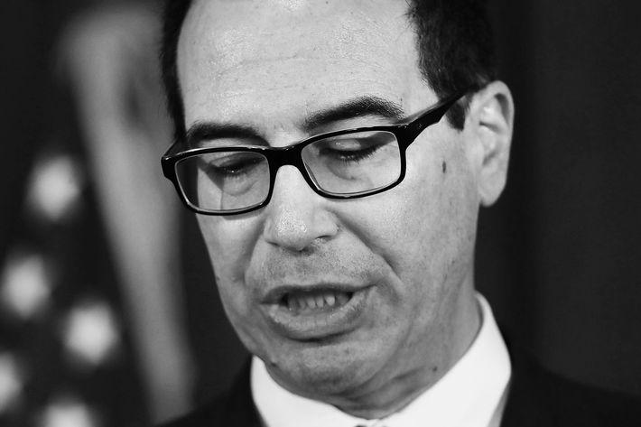 Treasury secretary Steve Mnuchin.