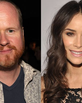 Joss Whedon and Abigail Spencer