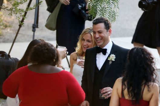 It seems Jimmy Kimmel may have been pranked at his own wedding to Molly McNearney in Ojai, CA. Jimmy's Oscar winning friend Gabourey Sidibe, slipped in to a wedding dress and presumably switched place with his bride to be.