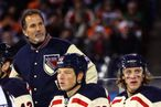 PHILADELPHIA, PA - JANUARY 02:  John Tortorella of the New York Rangers looks on during the 2012 Bridgestone NHL Winter Classic at Citizens Bank Park on January 2, 2012 in Philadelphia, Pennsylvania.  (Photo by Bruce Bennett/Getty Images)