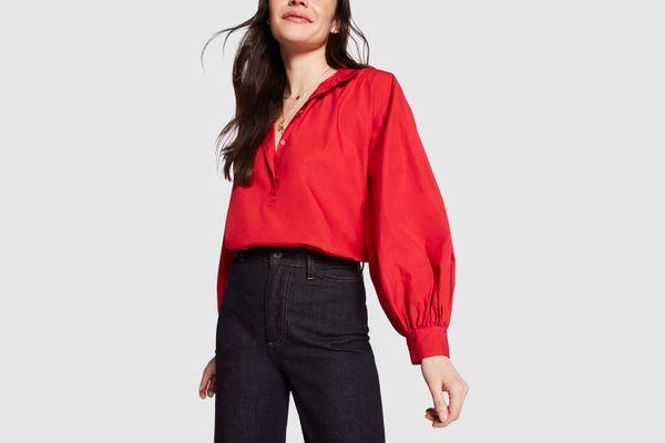 Nili Lotan Claira Button-Up Blouse