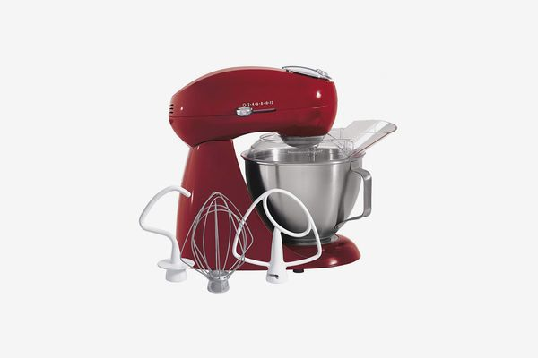 Hamilton Beach Eclectrics All-Metal 12-Speed Electric Stand Mixer, Tilt-Head, 4.5 Quarts, Pouring Shield