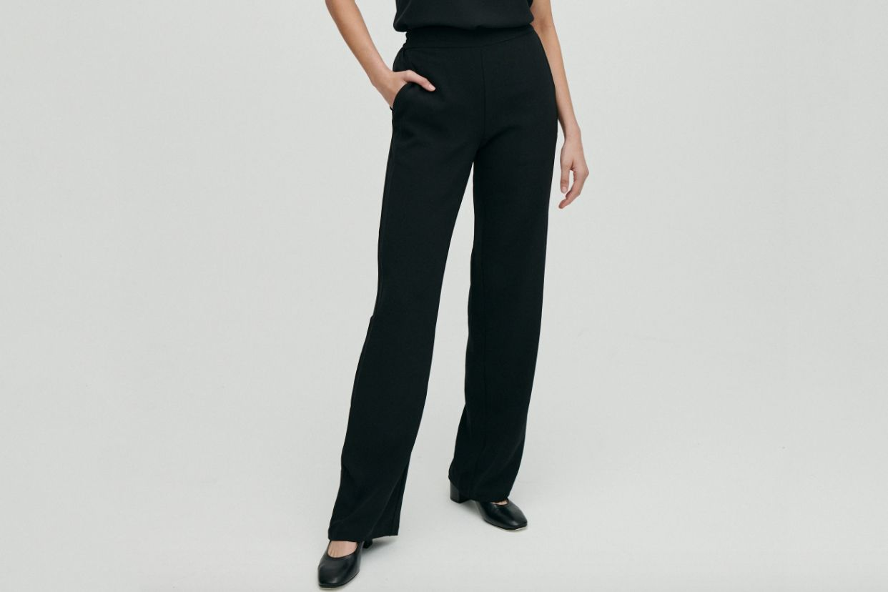 NEW YORK CITY WOMEN/'S JERSEY PANTS  BLACK  LARGE