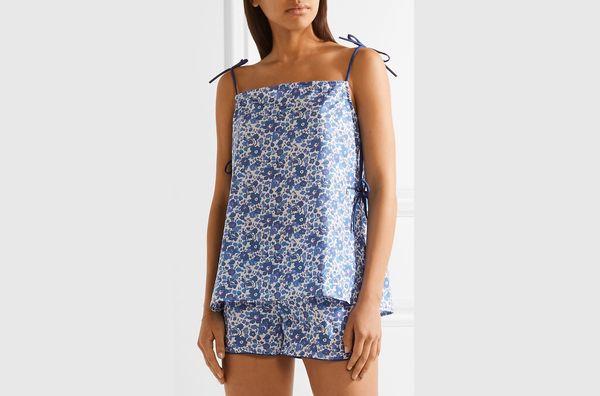 Three J NYC Brigette floral-print cotton-poplin pajama set