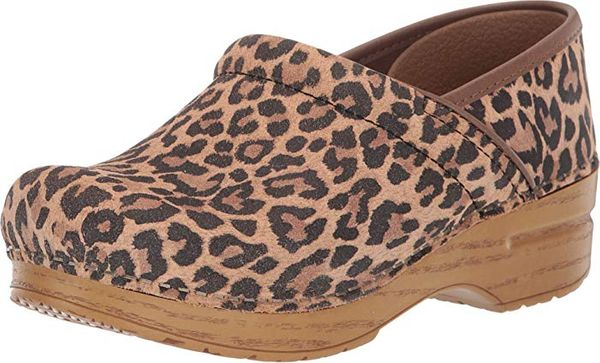 Dansko Professional Clogs, Leopard Suede