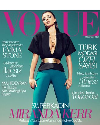 Miranda Kerr for <em>Vogue</em> Turkey.