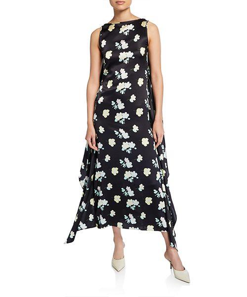 Grace Knotted-Silk Open Back Dress