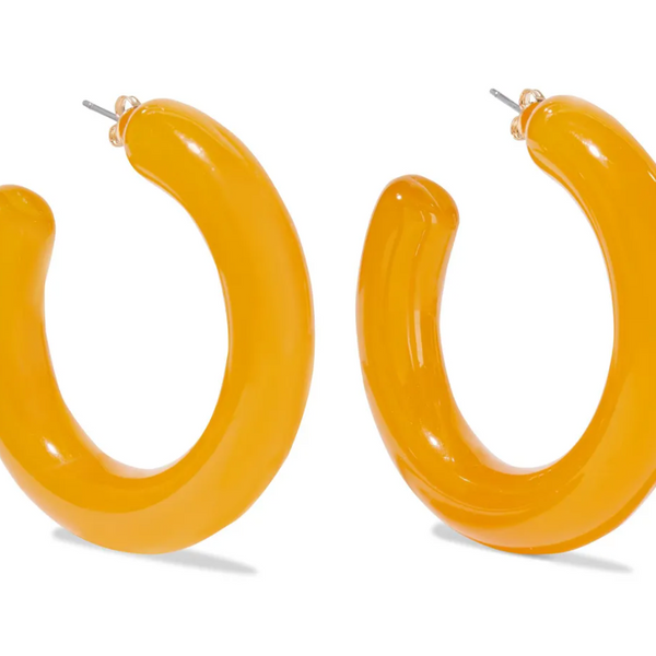Iris and Ink Tulip Acrylic Hoop Earrings