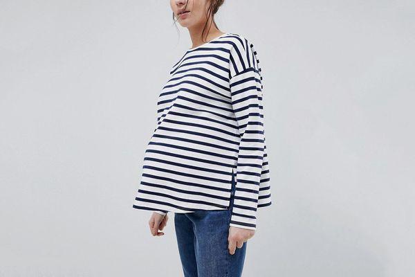 Asos Design Maternity Stripe Top