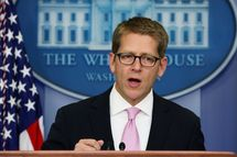 WASHINGTON, DC - SEPTEMBER 06: White House Press Secretary Jay Carney speaks during his daily briefing at the White House, on September 6, 2011 in Washington, DC. Secretary Carney briefed reporters on U.S. President Barack Obama's schedule and his speech he will deliver to a joint session of Congress later this week.  (Photo by Mark Wilson/Getty Images)