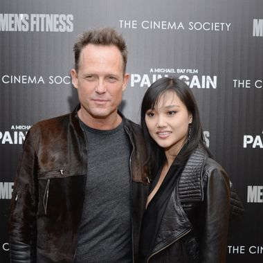 "Actor Dean Winters and guest attend the Cinema Society screening of ""Pain And Gain"" at Crosby Street Hotel on April 15, 2013 in New York City."