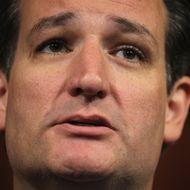 WASHINGTON, DC - SEPTEMBER 09:  U.S. Sen. Ted Cruz (R-TX) speaks during a news conference September 9, 2014 on Capitol Hill in Washington, DC. Sen. Cruz discussed on immigration reform during the news conference.  (Photo by Alex Wong/Getty Images)