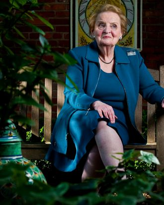 Former Secretary of State Madeleine Albright at her home in the Georgetown neighborhood of Washington DC, Friday April 20, 2012.
