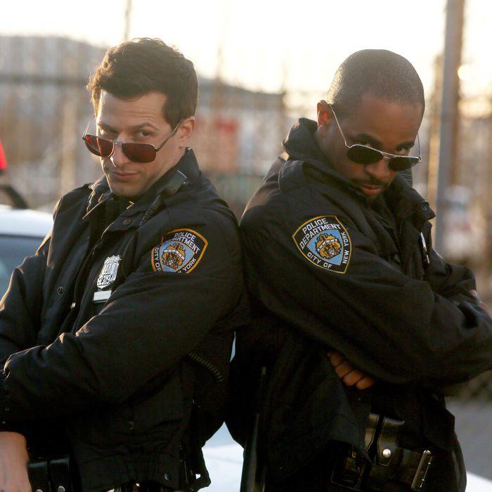 BROOKLYN NINE-NINE: L-R: Andy Samberg and guest star Damon Wayans, Jr. in the