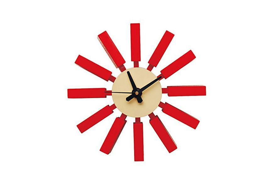 ModMade Spoke Wall Clock, Red