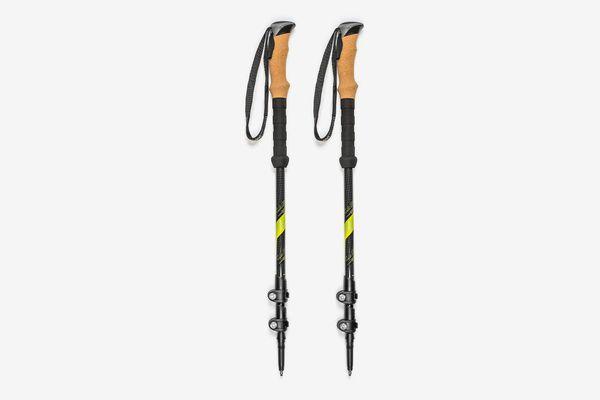 Cascade Mountain Tech Carbon Fiber Adjustable Trekking Poles 2 Pack