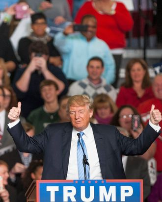 Donald Trump Holds Campaign Rally In Columbus, Ohio