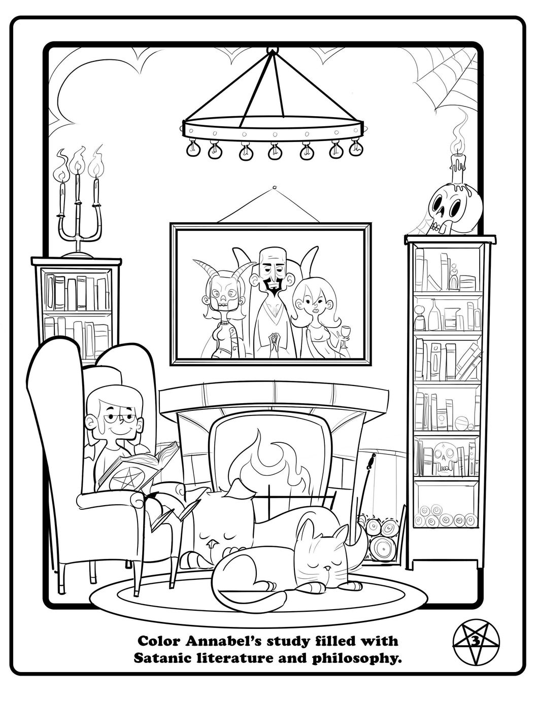 free satanic coloring pages - photo#9