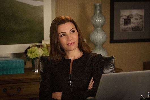 Alicia competes against Frank Prady for a major campaign donation, on THE GOOD WIFE Pictured   Julianna Margulies as Alicia Florrick.