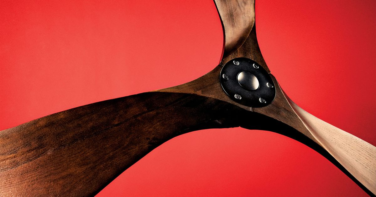 The Best Ceiling Fan Is Energy Efficient and Made of Balsa Wood