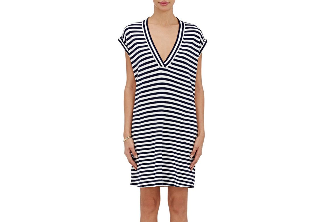 ATM Anthony Thomas Melillo Striped Cotton T-shirt Dress