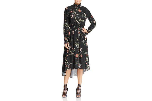 nanette Nanette Lepore Smocked High Neck Dress
