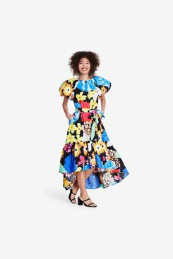 Christopher John Rogers for Target Floral Puff Sleeve High-Low Dress