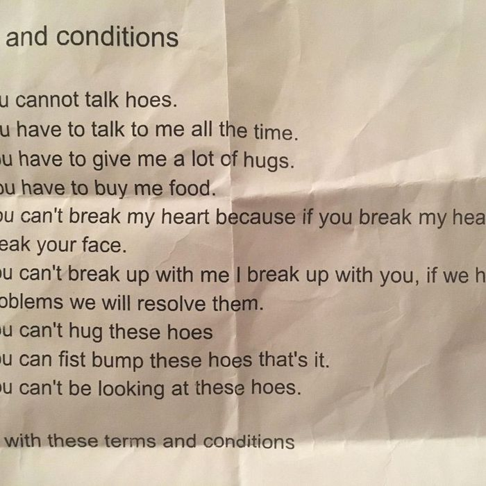 this 8thgrader�s relationship contract will make you