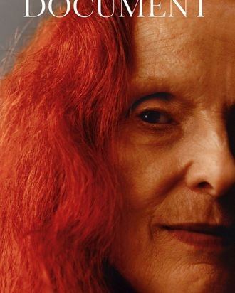 Grace Coddington on the cover of <i> Document </i>.