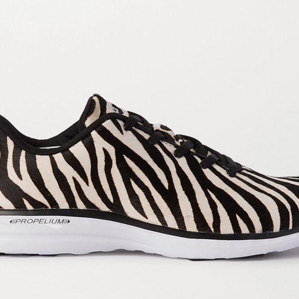 APL Athletic Propulsion Labs TechLoom Pro Zebra-Print Calf Hair Sneakers