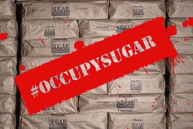 December 1991, Florida, USA --- Bags of packed sugar at a sugar mill owned by the Okeelanta Sugar corporation. | Location: Glades, Florida, USA.  --- Image by ? Tony Arruza/CORBIS
